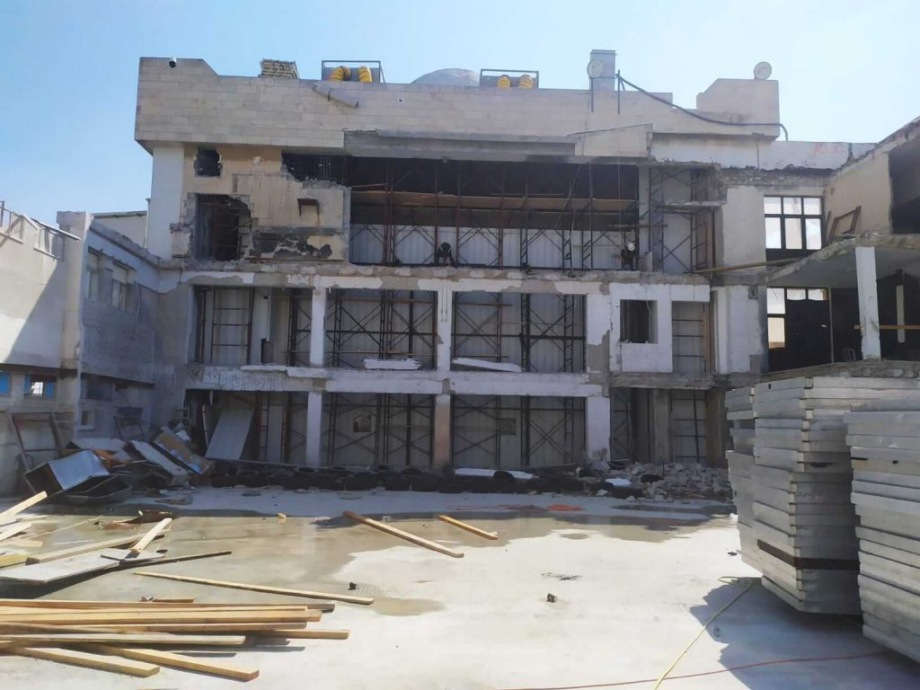 ניסור בטון בבניין