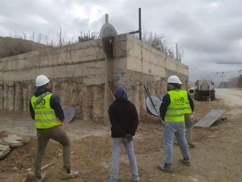 צוות יהלומי ניסור וקידוח בבטון