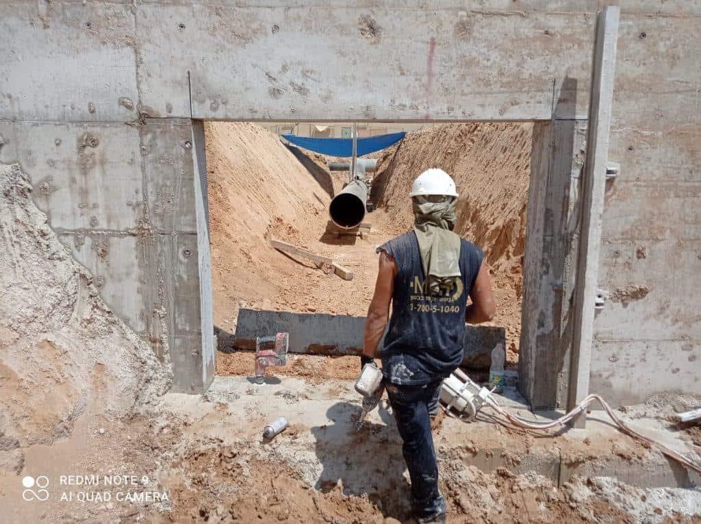 יצירת פתח בקיר בטון