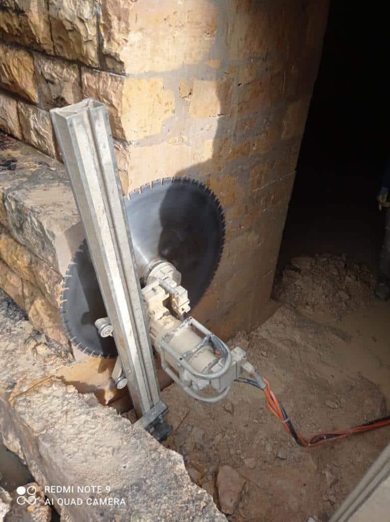 יצירת פתח בחיתוך מדוייק בבטון